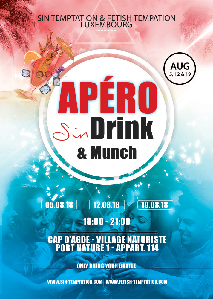 apéro sin drink & munch luxembourg at cap d'agde